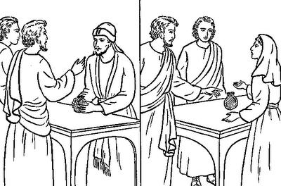.: Ananias e Safira- Desenhos e Atividades